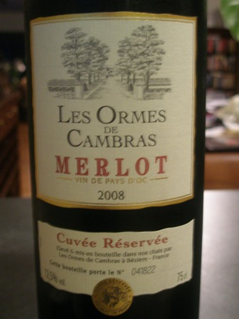 Les Ormes de Cambras - Merlot from France (3/5)