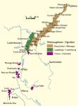 Map Vignobles Moselle