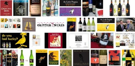 Critter wine labels